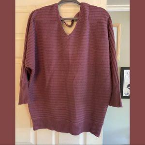 NY&Co V-neck ribbed sweater.